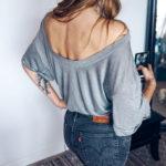 Indie Oversize t-shirt silver mist