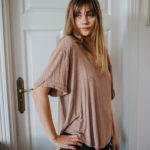 Indie Oversize t-shirt nude rose