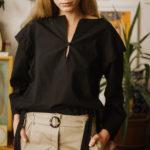 Kiara black blouse