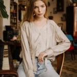 Jemma blouse beige